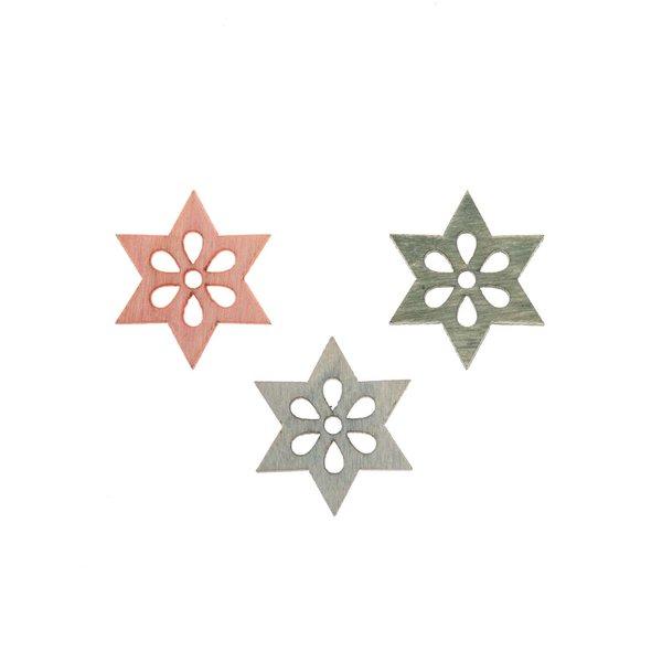 Sterntreu blau-grün-rosa 2cm 24 Stück