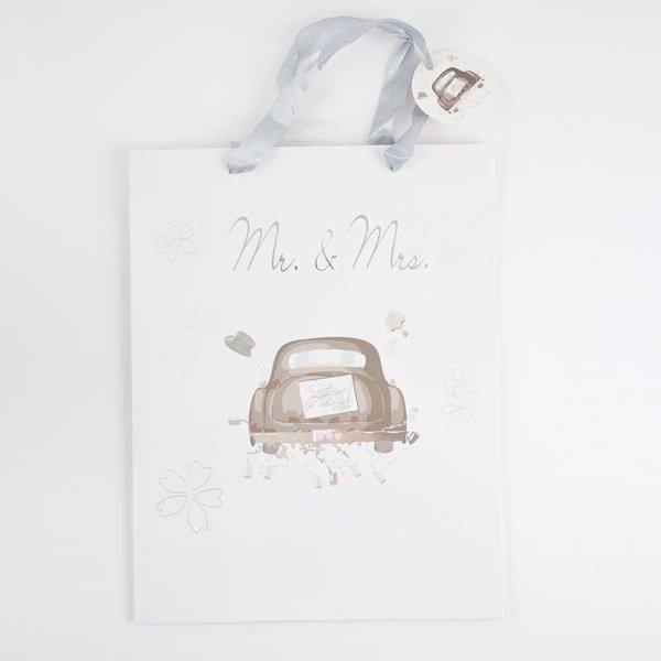 Geschenktüte Mr.& Mrs. 35x11x27cm