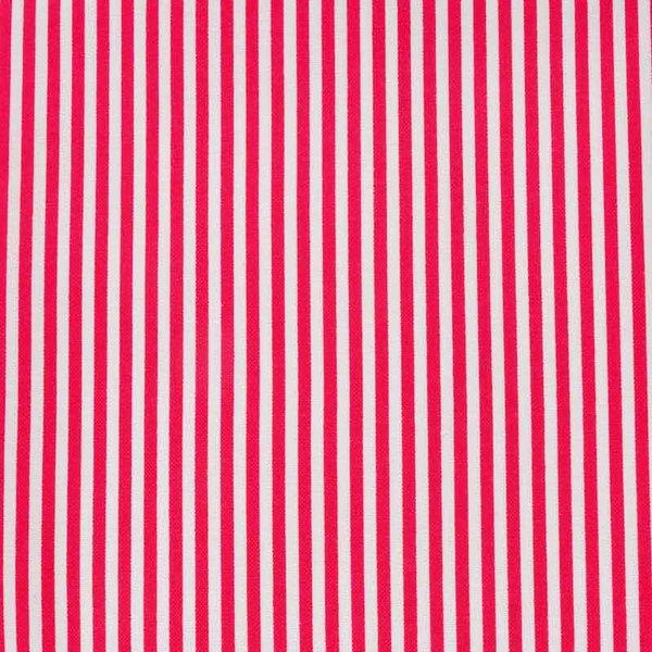 Rico Design Stoff rot-weiß gestreift 50x55cm