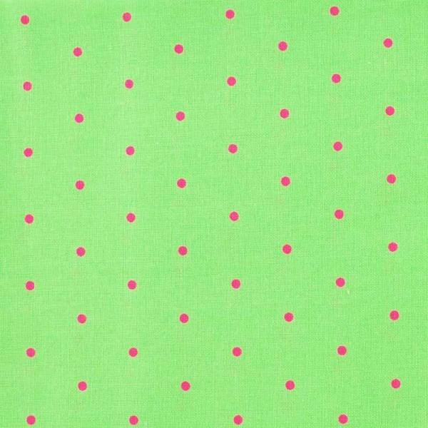 Rico Design Stoff grün-pink Punkte 50x55cm