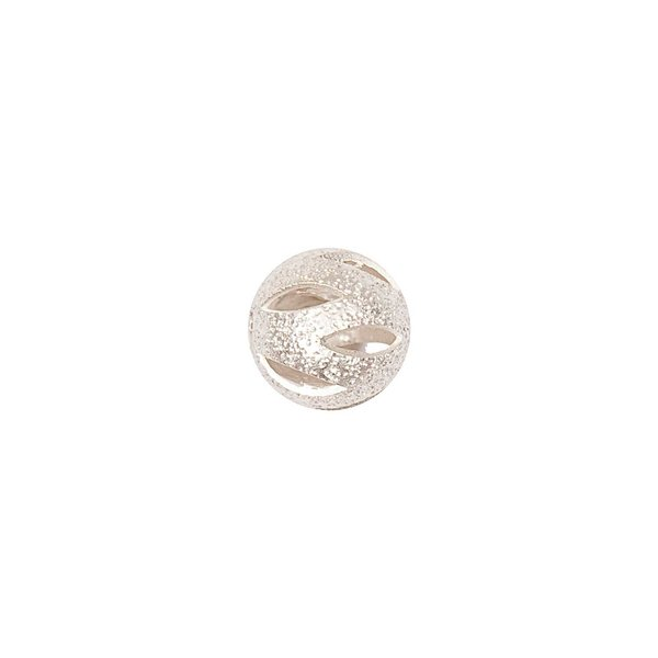 Jewellery Made by Me Filigranperle silber matt 8mm 2 Stück