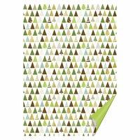 HEYDA Bastelkarton Tannen grün-gold 50x70cm 300g/m² Hot Foil