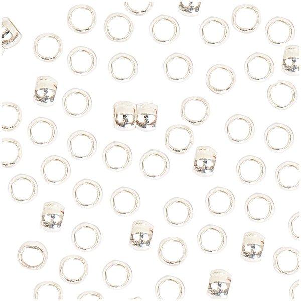 Jewellery Made by Me QuetschPerle silber 1,5mm 100 Stück