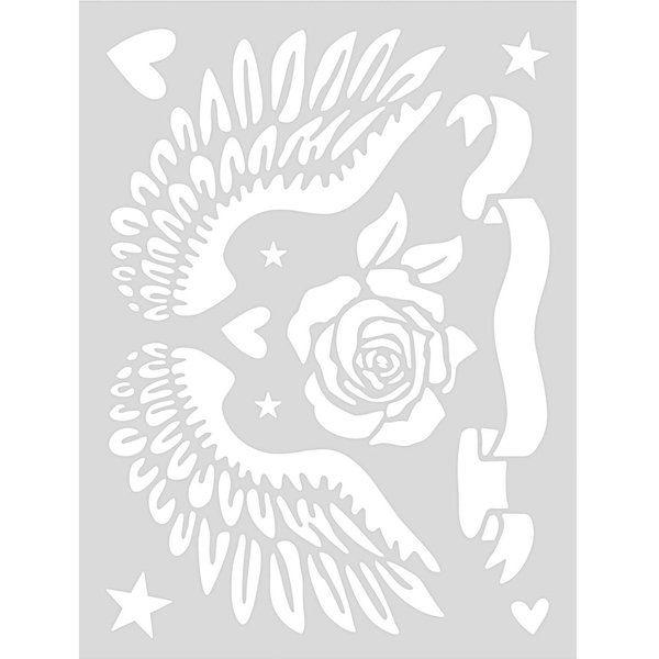 Rico Design Schablone Rock Classics 18,5x24,5cm selbstklebend