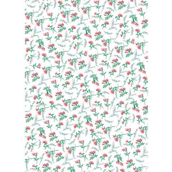 Rico Design Paper Patch Papier Blumen weiß 30x42cm