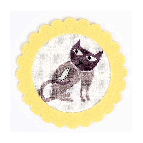Rico Design Stickpackung Katze 16cm