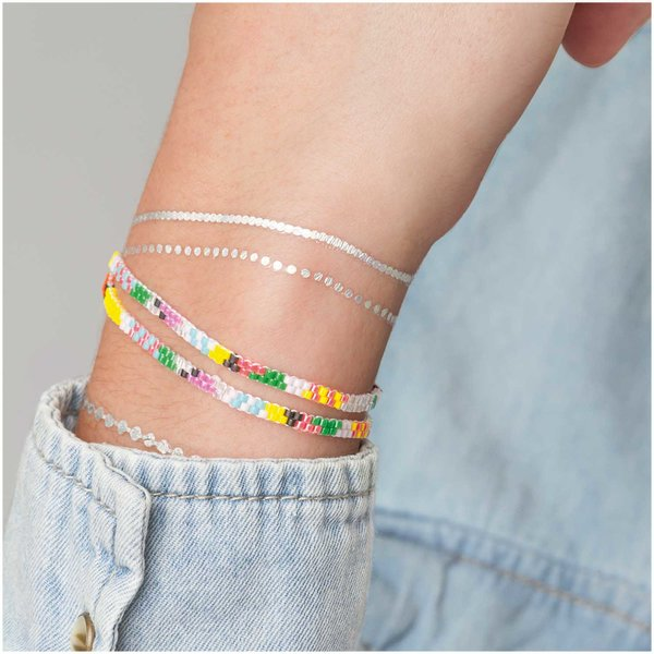 Jewellery Made by Me Brick Stitch Set Armband multicolor 360x4mm