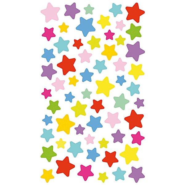 Paper Poetry Sticker Sterne mehrfarbig 10x19cm 4 Bogen