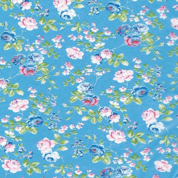décopatch Papier Rosalie blau 3 Bogen