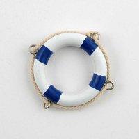 Rettungsring blau-weiß Holz 5cm