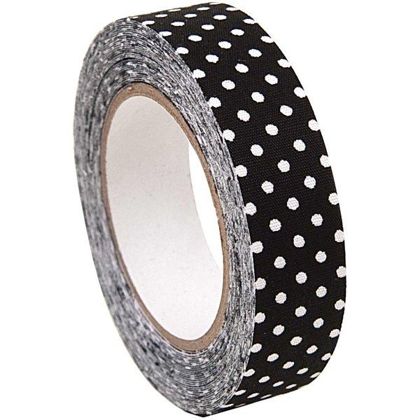 Rico Design Stofftape schwarz-weiße Punkte 5m selbstklebend
