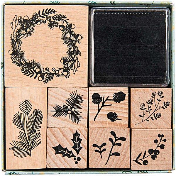 Paper Poetry Stempelset Classical Christmas incl. Stempelkissen 8 Stück