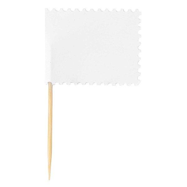 Paper Poetry Papierfähnchen weiß 7,5x4,5cm 10 Stück