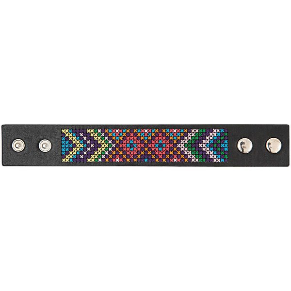 Jewellery Made by Me Armband zum Besticken Set I schwarz 23x3cm