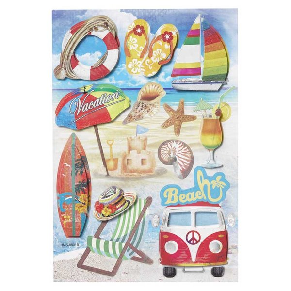 HobbyFun 3D Sticker Beach
