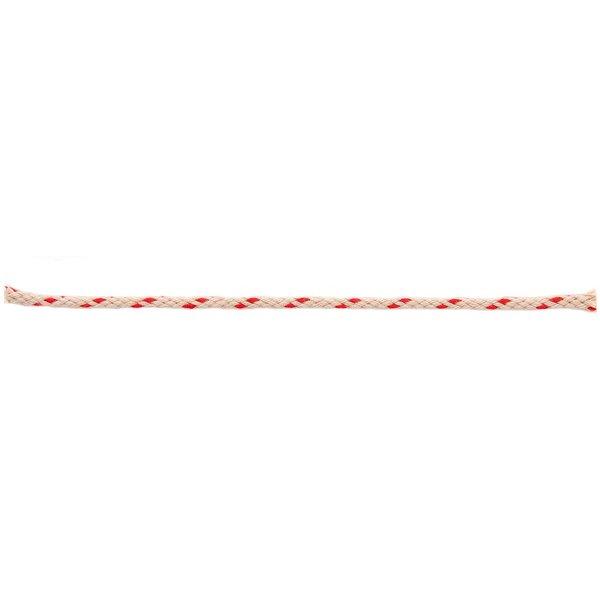 Rico Design Kordel natur Streifen rot 2m