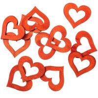 Streu Herzen rot 4cm Holz 12 Stück