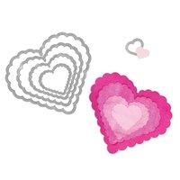 Sizzix Framelits Die Set Hearts Scallop
