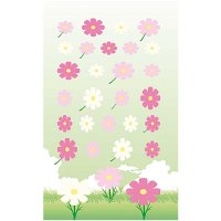 Paper Poetry Filzsticker Blumen rosa-pink 10x19cm