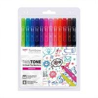 Tombow TwinTone Fasermaler Brights 12 Stück