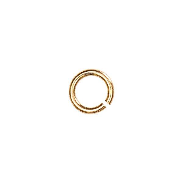 Jewellery Made by Me Spaltring vergoldet 5mm 925er Silber 6 Stück