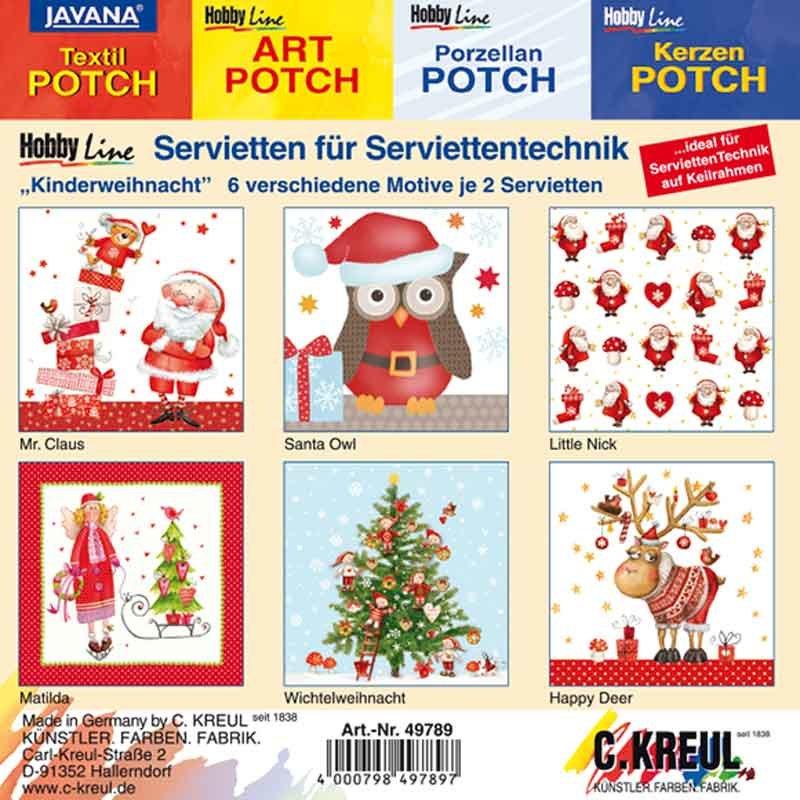 KREUL Servietten Mixpackung Weihnachten 12 Stück