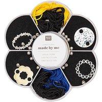 Jewellery Made by Me Makramee Set schwarz-gelb-blau 24teilig