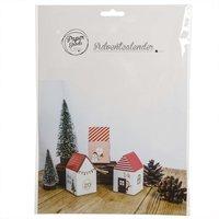 Papier-Adventskalender Häuser 5x5x8,2cm