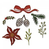 Sizzix Thinlits Die Set Festive Greens by Tim Holtz
