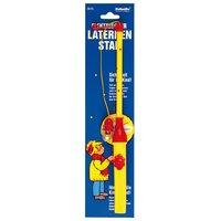 Laternenstab elektrisch mit Sternen gelb-rot 30cm