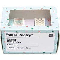 Paper Poetry Tape Set Flamingo 1,5cm 10m 5 Stück