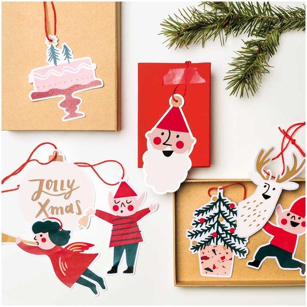 Paper Poetry Papieranhänger Jolly Christmas Classic 8 Stück