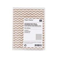 Paper Poetry Notizbuch A7 mit Hülle Zickzack weiß