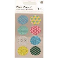 Paper Poetry Washi Sticker rund 90´s 4 Bogen