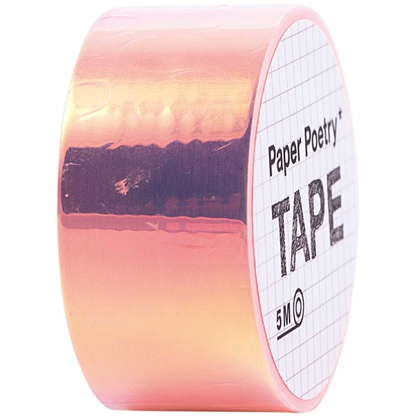 Paper Poetry Mirror Rainbow Tape orange 19mm 5m