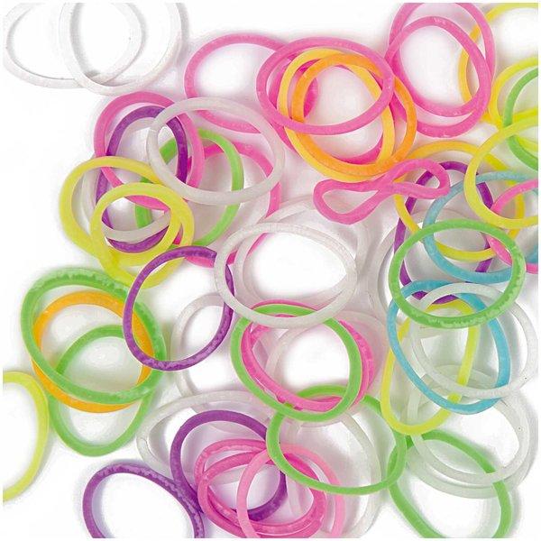 Jewellery Made by Me Loom Bänder Mix fluoreszierend ca. 200 Stück