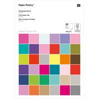 Paper Poetry Bastelpapierblock Super Colour A4 160g/m² 30 Blatt