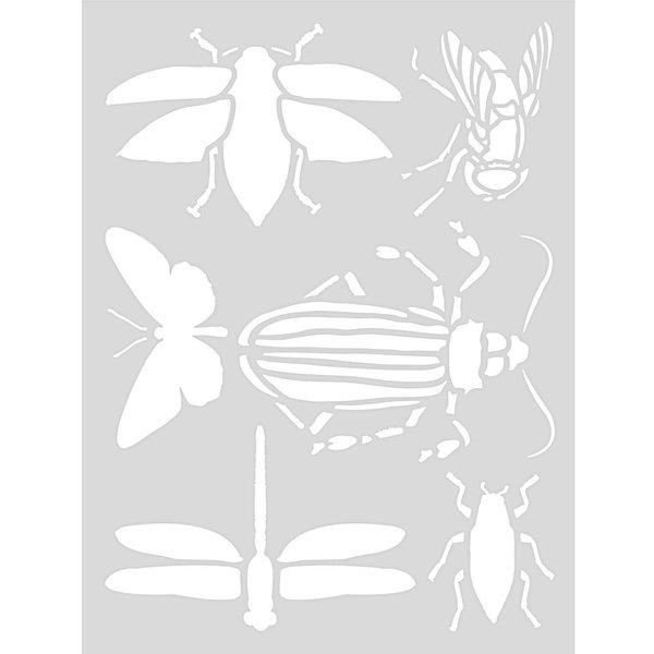 Rico Design Schablone Insekten 18,5x24,5cm selbstklebend