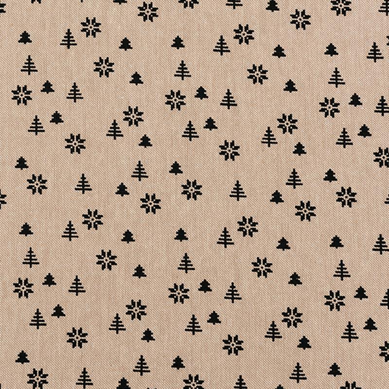 Weihnachtsstoff für Weihnachtsdeko im rustikalen und ländlichen Stil