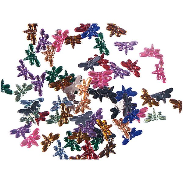 Rico Design Strass Schmetterlinge mehrfarbig 100 Stück