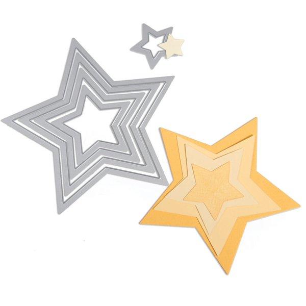 """Sizzix Framelits Die Set """"Stars"""""""