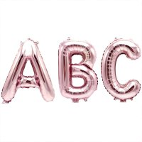 YEY! Let's Party Folienballon Buchstabe rosa 36cm