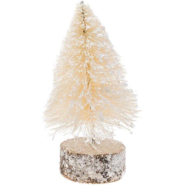 Tanne beschneit weiß 16cm