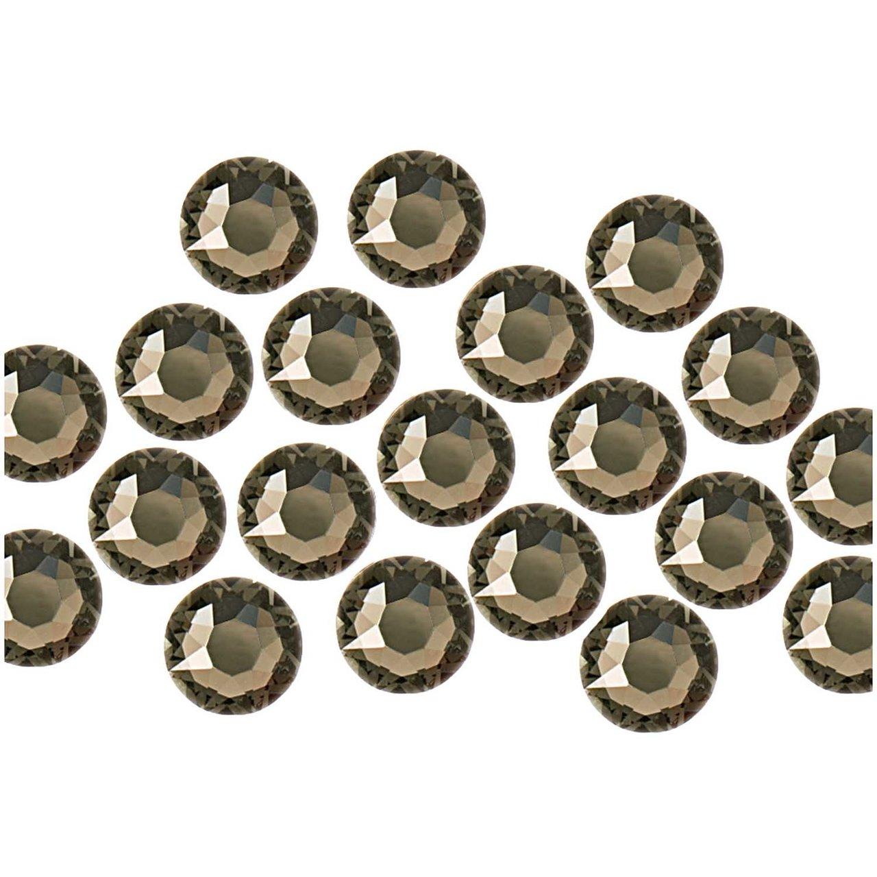 Swarovski® Hot Fix Steine black diamond 4mm 20 ...