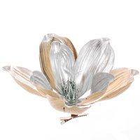 Deko-Blüte am Clip silber 21cm