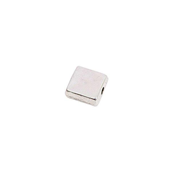 Rico Design Perle quadratisch silber 7x3,5mm 20 Stück