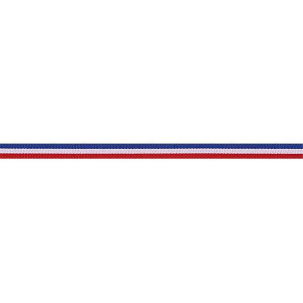 Rico Design Ribbon Streifen blau-weiß-rot 2m