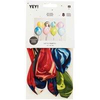 YEY! Let's Party Ballon Mix marmoriert 8 Stück
