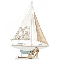 Segelboot 50,5x33cm Holz