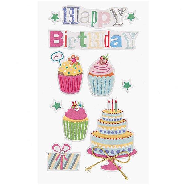 Paper Poetry 3D Sticker Happy Birthday